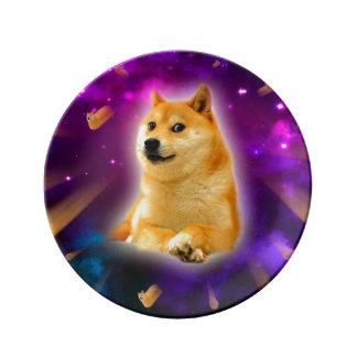 bread  - doge - shibe - space - wow doge plate