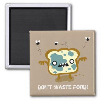 Bread Food Zombie Magnet