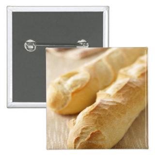 Bread, french stick pinback button