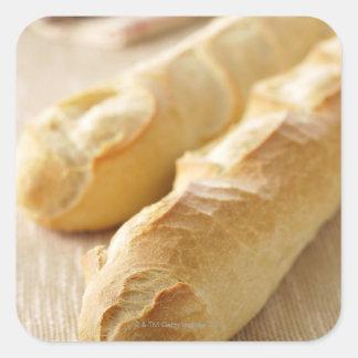 Bread french stick square sticker