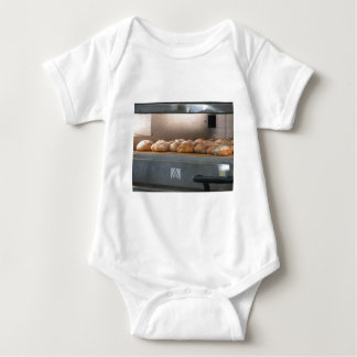 Bread freshly made into the oven baby bodysuit