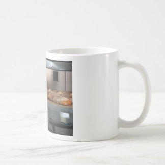 Bread freshly made into the oven coffee mug