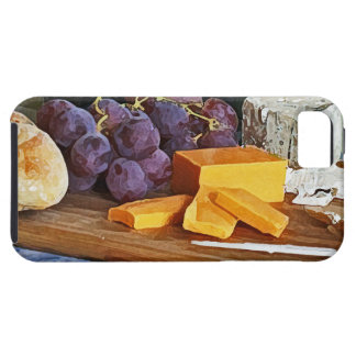 Bread Grapes Cheddar and Blue Cheeses Still Life iPhone 5 Cases