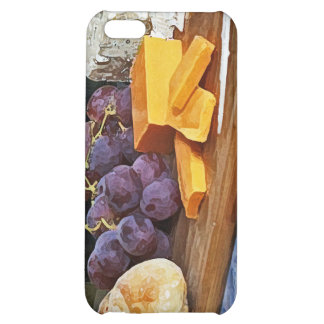 Bread Grapes Cheddar and Blue Cheeses Still Life Cover For iPhone 5C