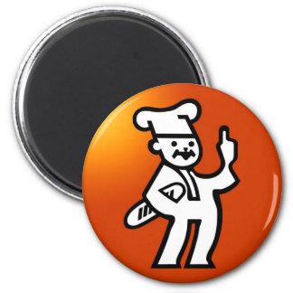Bread Guy 2 Inch Round Magnet