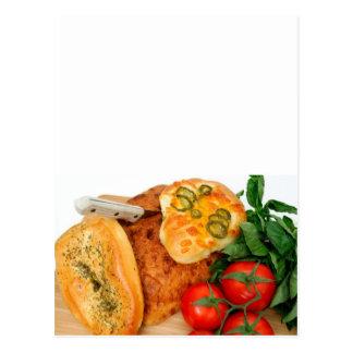 Bread Herbs Tomatoes Postcard