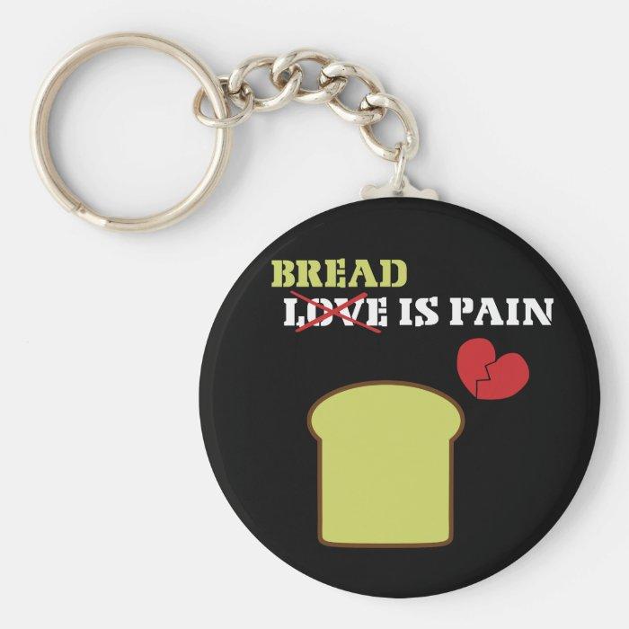 Bread Is Pain Keychain