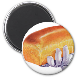 Bread Loaf Baking Art Retro Vintage Kitsch Magnet
