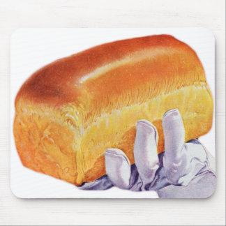 Bread Loaf Baking Art Retro Vintage Kitsch Mouse Pad