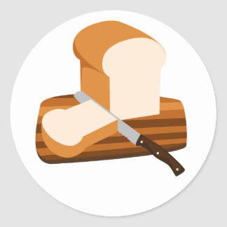 Bread Loaf Classic Round Sticker