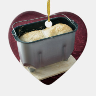 Bread maker Double-Sided heart ceramic christmas ornament