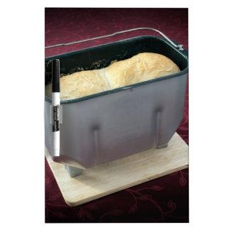 Bread maker dry erase board