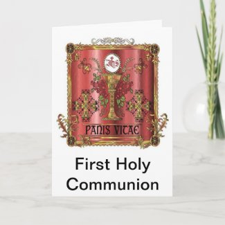 Bread of Life First Communion Card