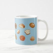 Bread & pastry pattern mug - customizable