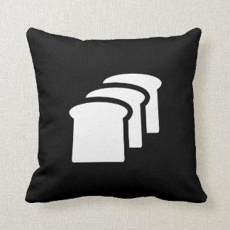 Bread Pictogram Throw Pillow