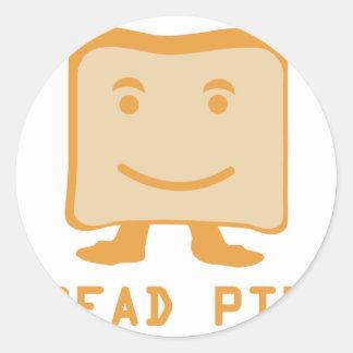 bread pitt classic round sticker