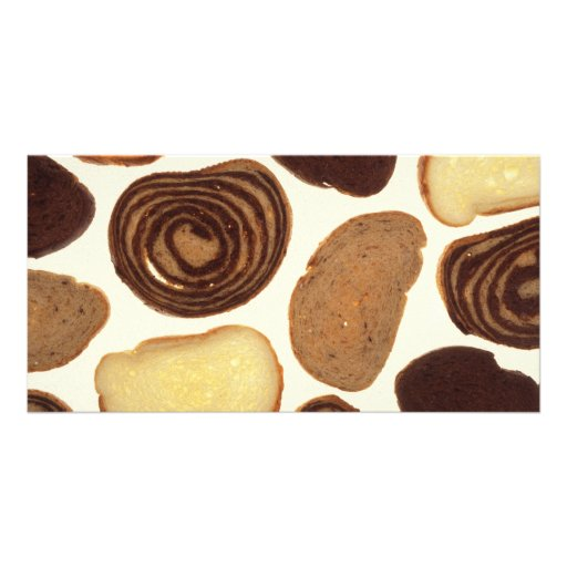 Bread products photo card template