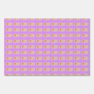 Bread Purple Pink Lawn Sign