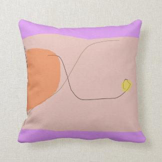 Bread Purple Pink Throw Pillow