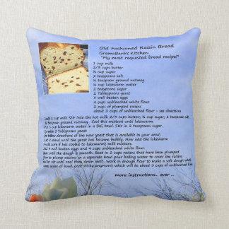 Bread Recipe Pillow