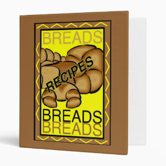 Bread Recipes 3 Ring Binder