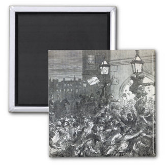 Bread Riot at the entrance to the House 2 Inch Square Magnet