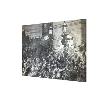 Bread Riot at the entrance to the House Canvas Print