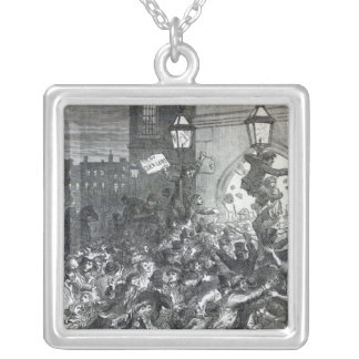 Bread Riot at the entrance to the House Silver Plated Necklace