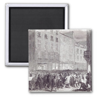 Bread Riot, in the Rue du Faubourg St. Antoine 2 Inch Square Magnet