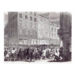 Bread Riot, in the Rue du Faubourg St. Antoine Postcard