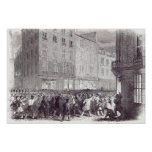 Bread Riot, in the Rue du Faubourg St. Antoine Poster