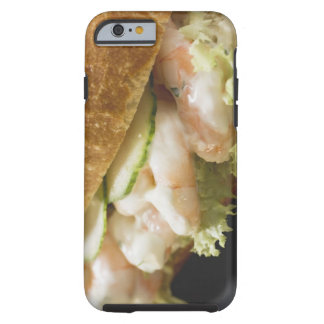 Bread roll filled with shrimps, cucumber and tough iPhone 6 case
