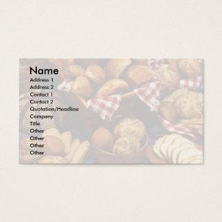 Bread still life business card