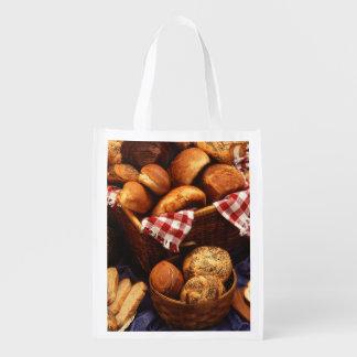 Bread still life grocery bag
