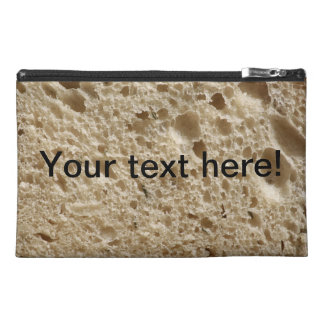 Bread texture travel accessory bag
