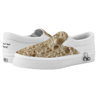 Bread texture printed shoes