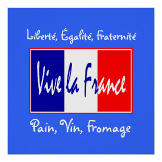 Bread, Wine, Cheese French Essentials Kitchen Poster