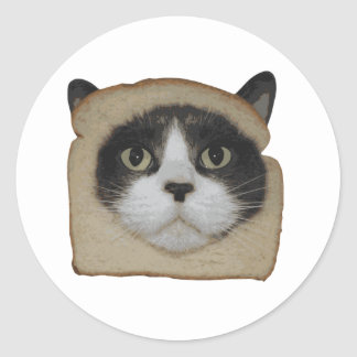 Breaded Inbread Cat Breading Classic Round Sticker