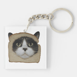 Breaded Inbread Cat Breading Double-Sided Square Acrylic Keychain