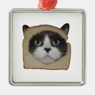 Breaded Inbread Cat Breading Metal Ornament