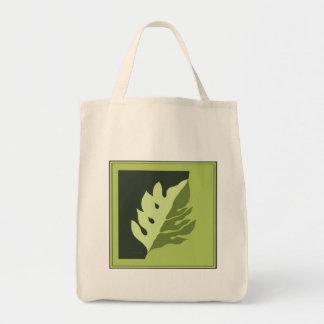 Breadfruit Leaf Grocery Tote Bag