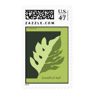 Breadfruit Leaf Postage Stamp