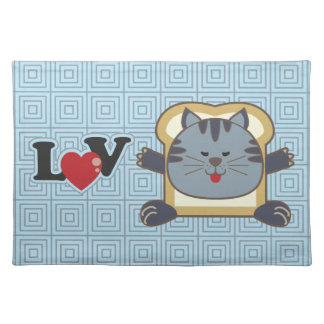 Breading Cat Blue Placemat
