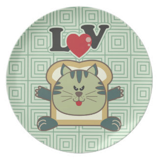 Breading Cat Green Plate