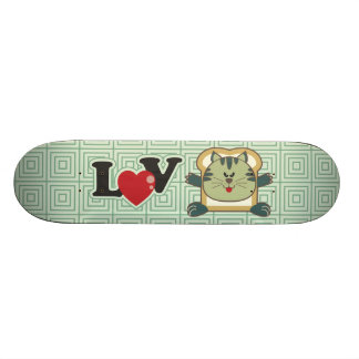 Breading Cat Green Skateboard