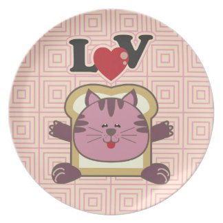 Breading Cat Pink Plate