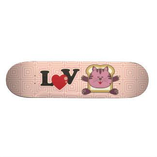 Breading Cat Pink Skateboard