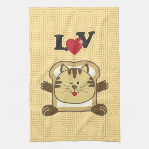 Breading Cat Yellow Kitchen Towel