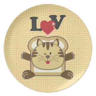 Breading Cat Yellow Plate
