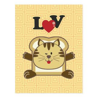 Breading Cat Yellow Postcard